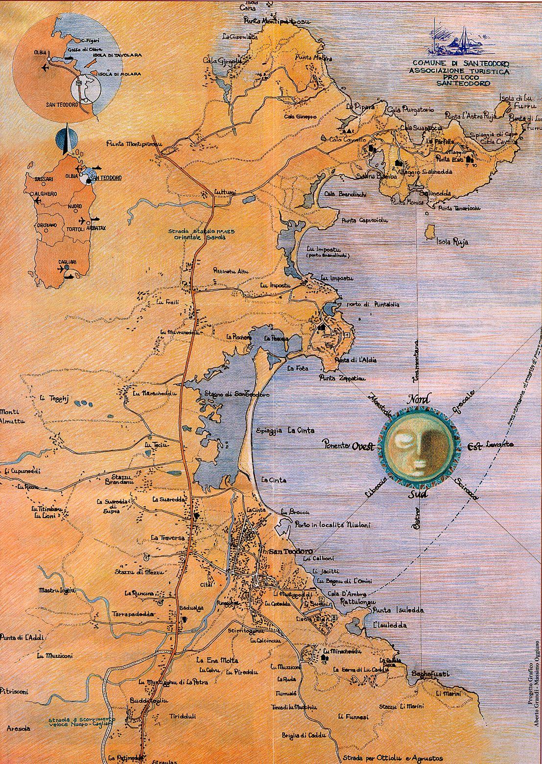 Cartina Di San Teodoro Sardegna.Dove Andare
